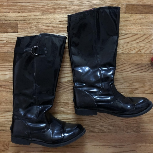 Dkny Shoes - DKNY Black Rain boots